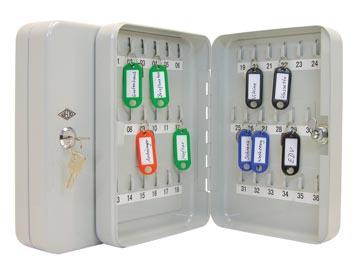 Wedo sleutelkast voor 36 sleutels, ft 18 x 6 x 25 cm, grijs