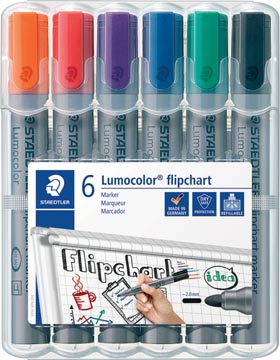 Staedtler merkstift Lumocolor Flipchart 6 stuks