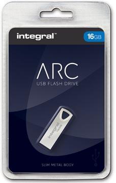 Integral ARC USB stick 2.0, 16 GB, zilver