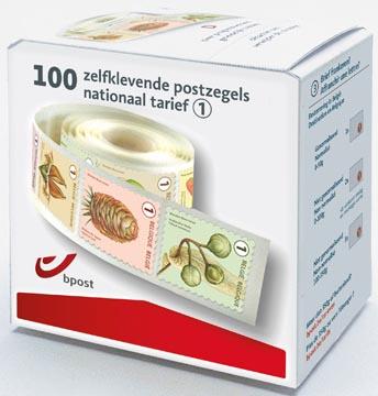 BPost postzegel nationaal, fruit, doos van 100 stuks op rol, non-prior