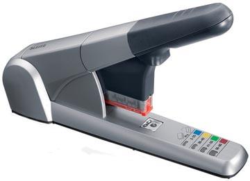 Leitz Heavy Duty nietmachine 5551, niet 80 vel, voor K6, K8, K10 en K12 nietcassettes, zilver