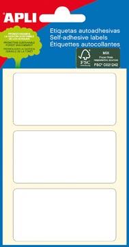 Apli witte etiketten ft 34 x 67 mm (b x h), 18 stuks, 3 per blad (2684)