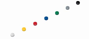 Maul magneet MAULsolid, diameter 15 x 7 mm, geassorteerde kleuren, doos met 10 stuks