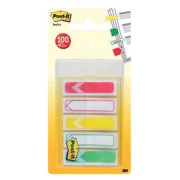 Post-it Index To Do pijltjes, ft 11,9 x 43,2 mm, pak van 5 x 20 tabs