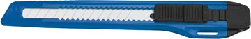 Office cutter, 9mm, zwart/blauw, op blister