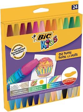 Bic Kids oliepastels, etui van 24 stuks
