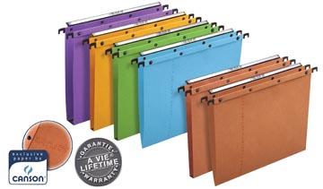 L'Oblique hangmappen voor laden AZO tussenafstand 390 mm (foolscape), V-bodem, oranje