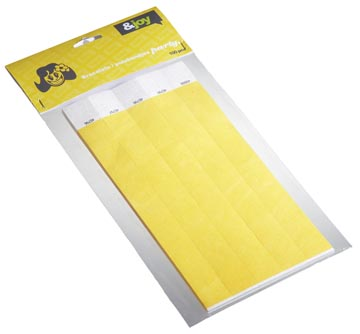 Orakel polsbandjes Tyvek, geel, pak van 100 stuks
