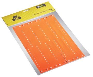 Orakel polsbandje Vinyl, oranje, pak van 100 stuks
