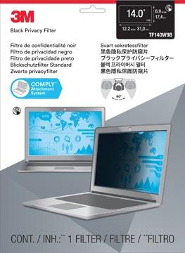 3M privacy filter voor touch breedbeeldscherm, 14 inch, zwart