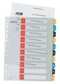 Leitz Cosy tabbladen, ft A4, 11-gaatsperforatie, PP, geassorteerde kleuren, set 1-10