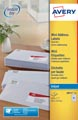 Avery witte etiketten QuickDry ft 38,1 x 21,2 mm (b x h), 1.625 stuks, 65 per blad